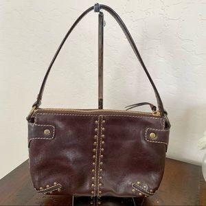 Michael Kors Studded Brown Leather Bag